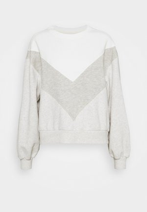 CREW - Sweatshirt - natural chevron