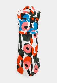 Marimekko - TAIVAAS UNIKKO DRESS - Denim dress - dark green/red/blue - 0