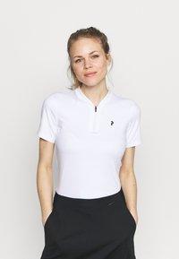 Peak Performance - TURF ZIP - Print T-shirt - white - 0