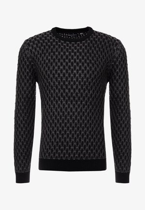 Strickpullover - black/grey