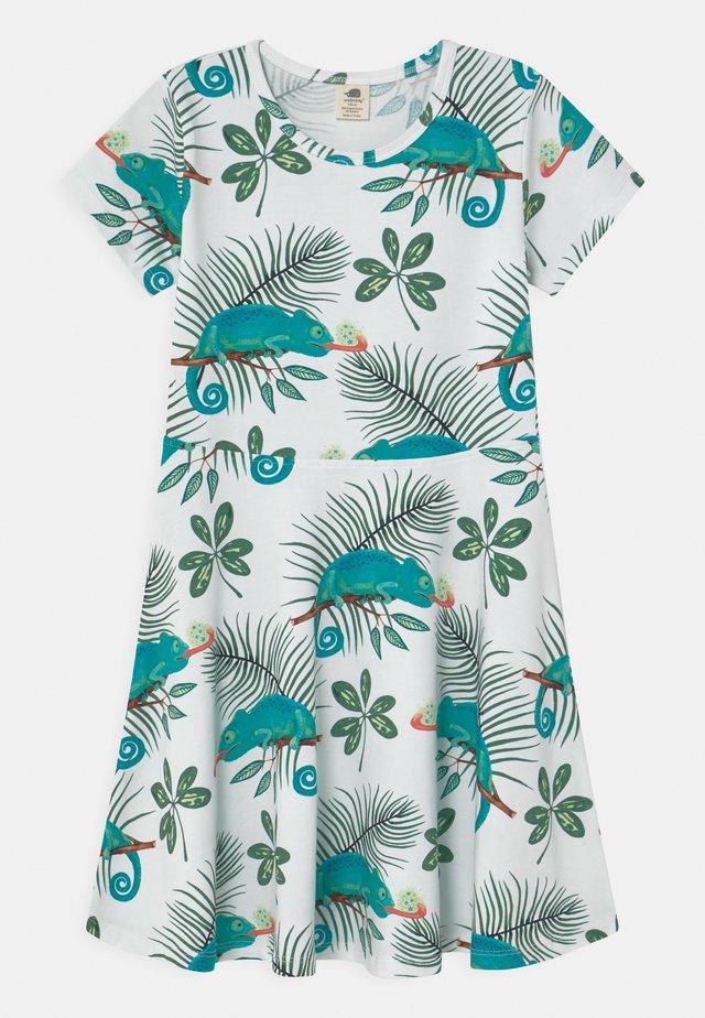 CHAMELEONS - Jersey dress - white/green