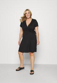 Simply Be - ORING DRESS - Vestito di maglina - black - 0