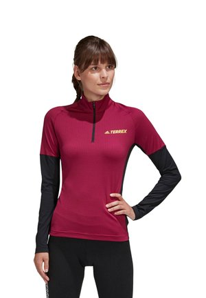 TECHNICAL AEROREADY X-COUNTRY SKIING PULLOVER - Long sleeved top - bordeaux