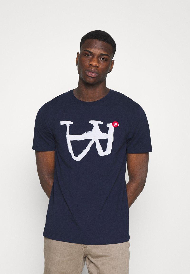 Wood Wood - ACE - Print T-shirt - navy