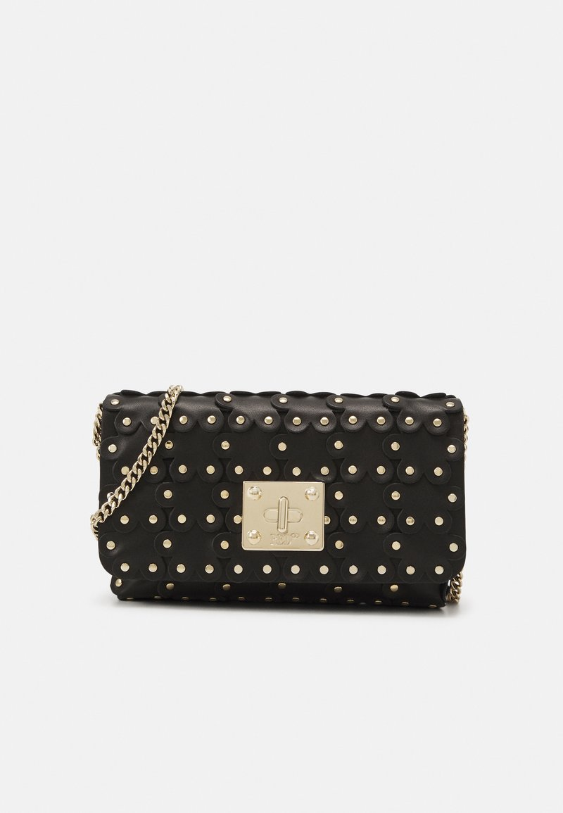 Red V - FLOWER PUZZLE WALLET ON CHAIN - Clutch - black