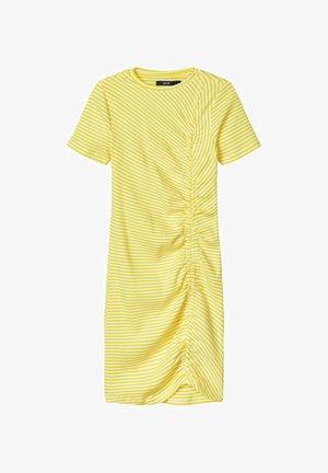 Jersey dress - blazing yellow