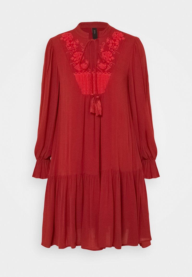 YAS Petite - YASCILLA DRESS BOHO - Kjole - red ochre