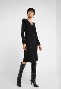 Bruuns Bazaar - METALLIC RIBA DRESS - Day dress - black/silver - 0