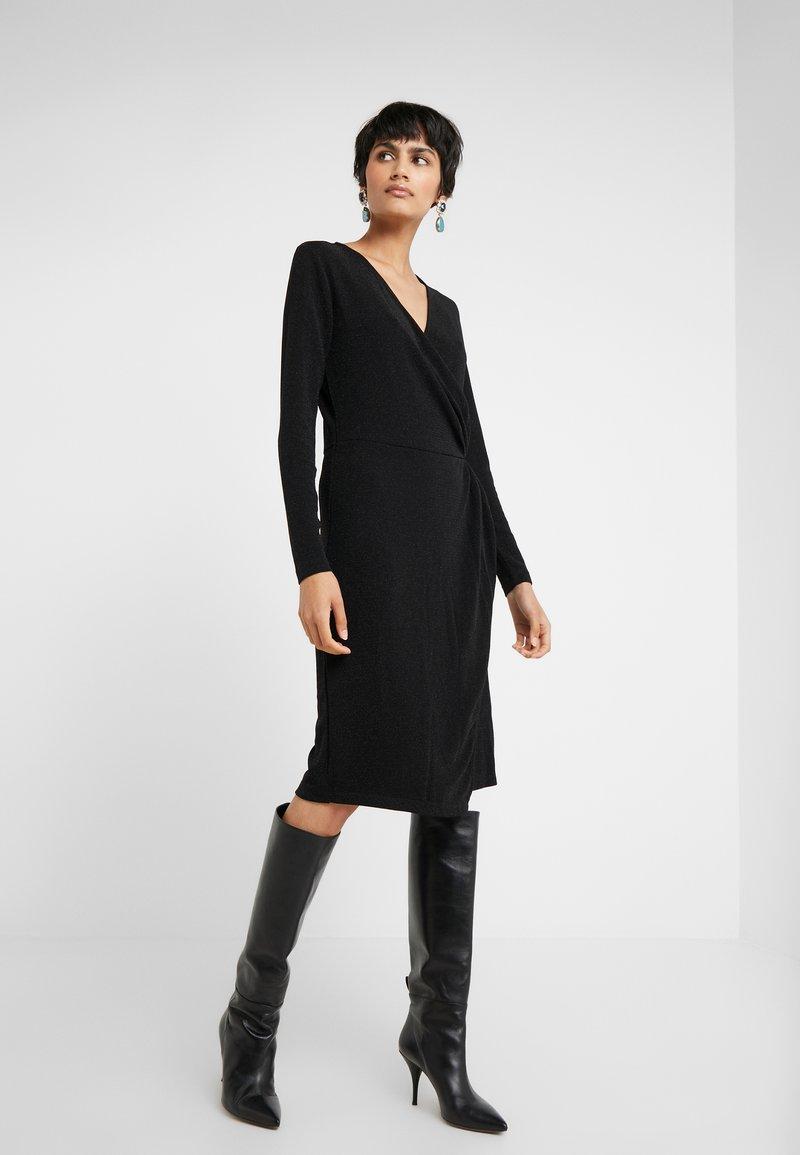 Bruuns Bazaar - METALLIC RIBA DRESS - Day dress - black/silver
