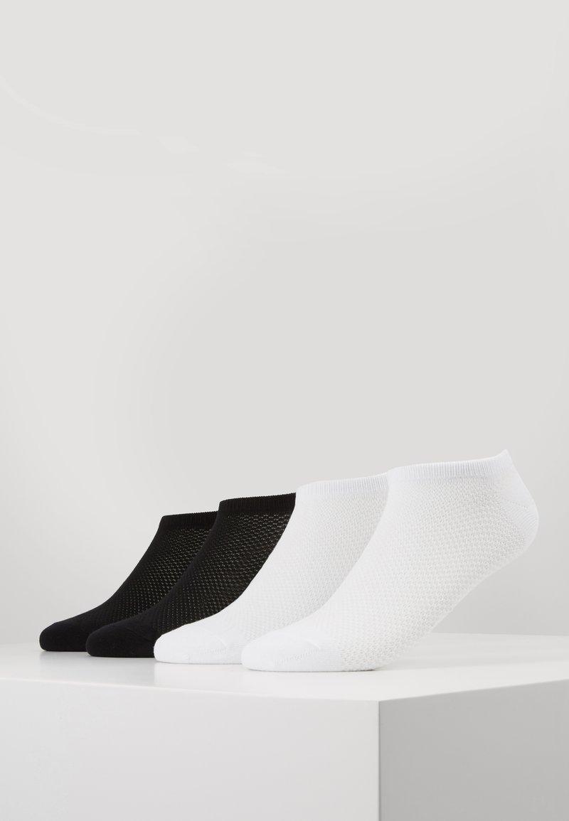 s.Oliver - WOMEN FASHION SNEAKER 4 PACK - Socks - black