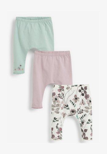 3 PACK - Leggings - Trousers - mint  light pink white