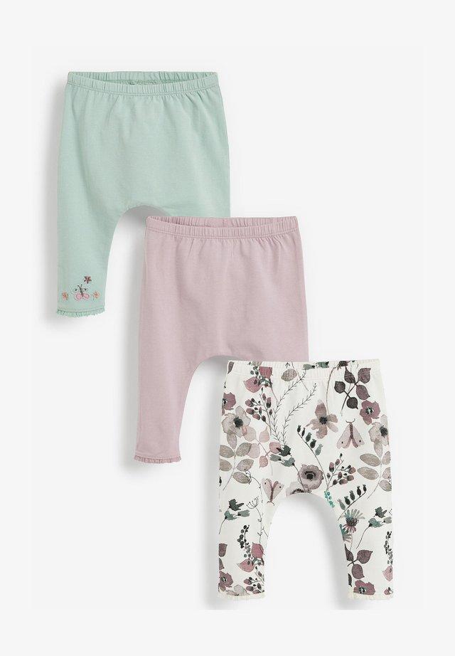 3 PACK - Legíny - mint  light pink white