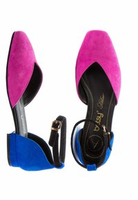 Betsy - Ankle strap ballet pumps - pink   navy - 3