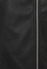 Missguided Tall - LONGLINE VINTAGE BIKER - Imitatieleren jas - black - 2