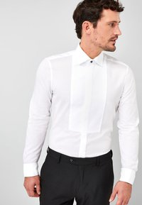 Next - BIB FRONTED DRESS SHIRT - Camicia elegante - white - 0