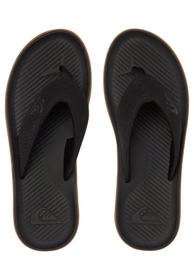 HALEIWA PLUS - Japonki kąpielowe - black/black/brown