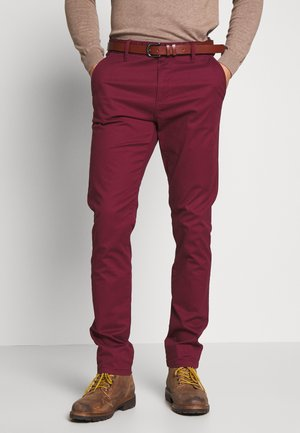 GOVER - Chinos - red ochre