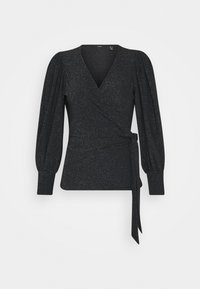 Vero Moda Petite - VMJELINA WRAP  - Long sleeved top - black - 0