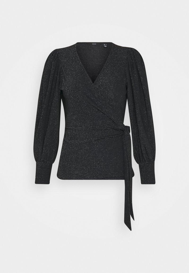 Vero Moda Petite - VMJELINA WRAP  - Long sleeved top - black