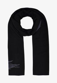 Lacoste - CROCODILE - Scarf - noir/graphite - 1