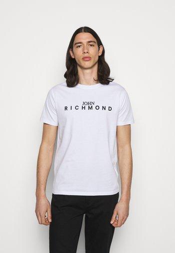 FEDERICK - Print T-shirt - white