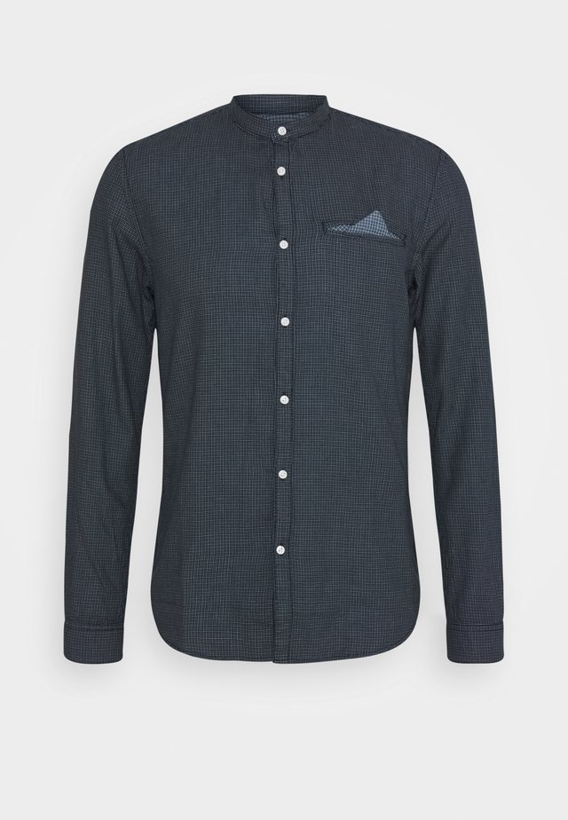 SMALL PATTERNED JACQUARD SHIRT - Chemise - blue