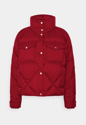 TJW DIAMOND QUILTED - Winter jacket - wine red