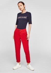 s.Oliver - Print T-shirt - navy kind print - 1