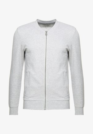 JACKET - Felpa aperta - light stone/grey melange
