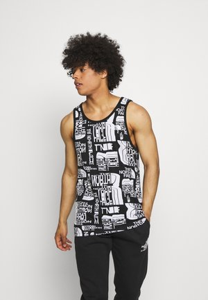DISTORTED LOGO TANK - Top - black