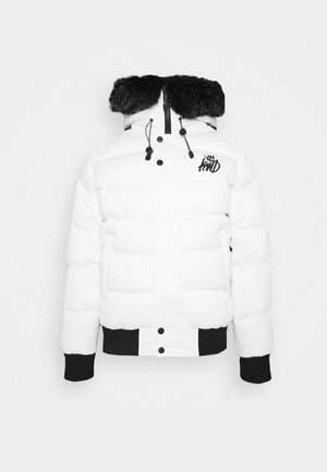 PUFFER BOMBER JACKET - Winter jacket - white