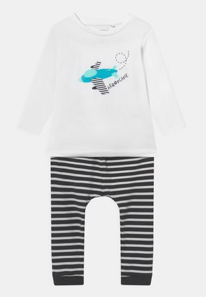 NBMMARINUS SET - Trousers - bright white