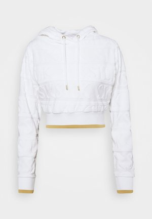 INVERSE CROPPED HOOD - Sweater - white