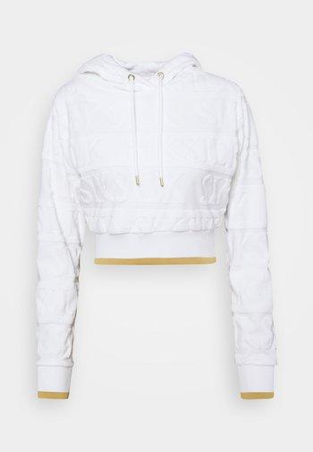 INVERSE CROPPED HOOD - Sweatshirt - white