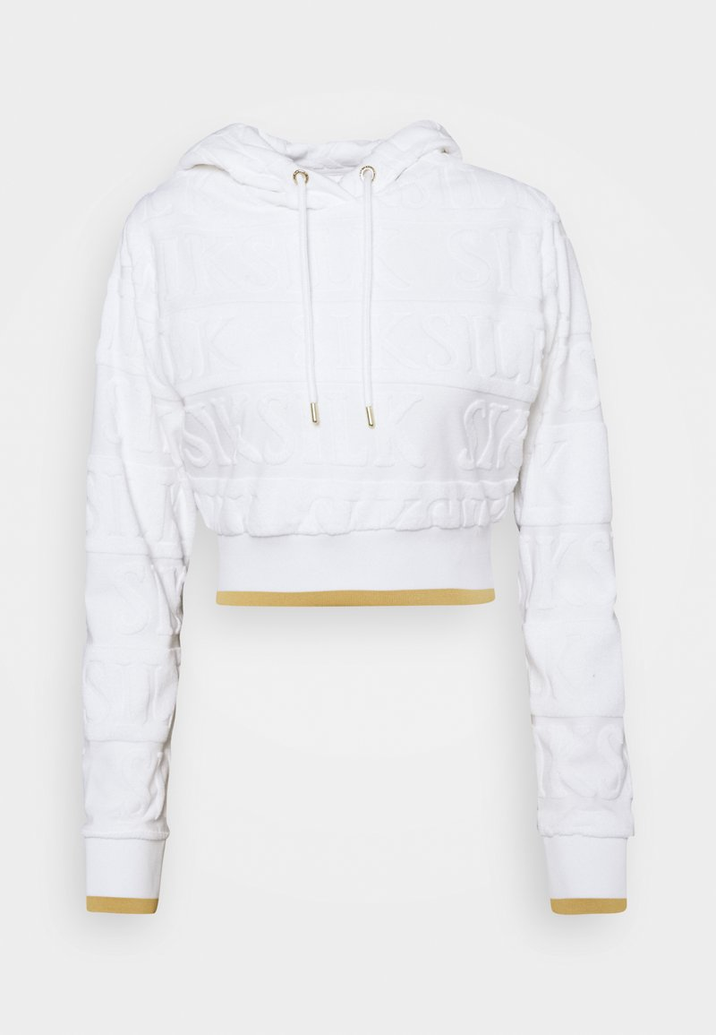 SIKSILK - INVERSE CROPPED HOOD - Sweatshirt - white