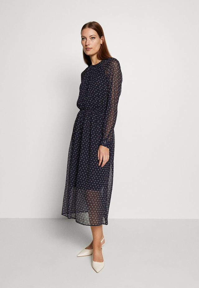 DRESS - Skjortekjole - navy