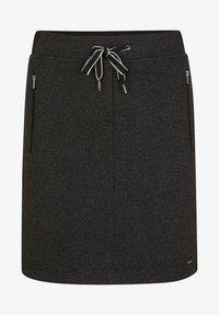 comma casual identity - MIT HERRINGBONE-MUSTER - A-line skirt - black heringbone - 4