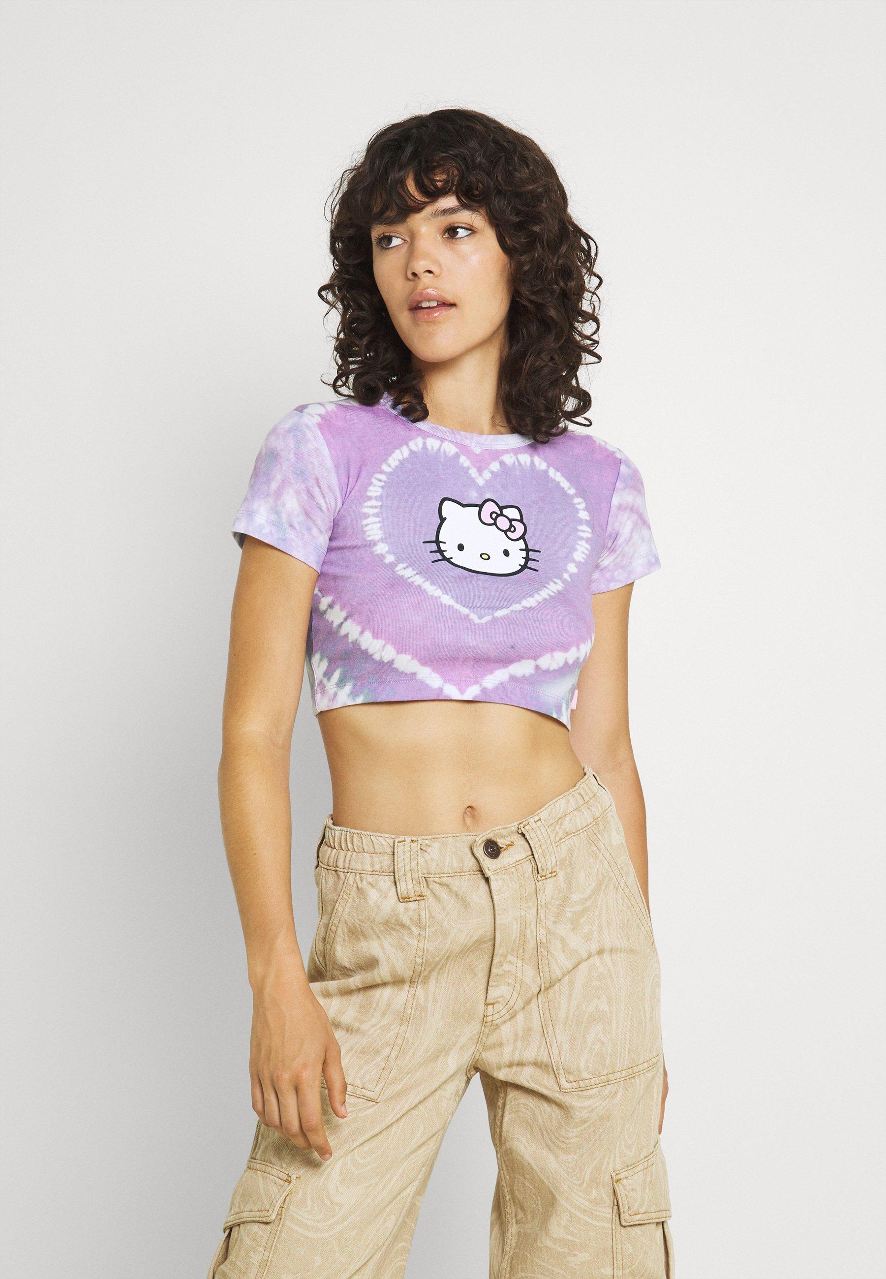 Women HEART TIE DYE BABY TEE - Print T-shirt