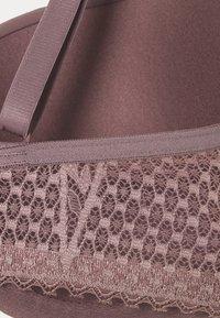 Calvin Klein Underwear - LINED BALCON - Kaarituelliset rintaliivit - plum dust - 4