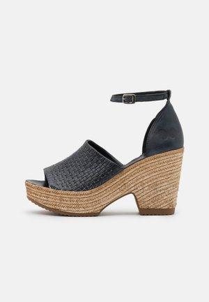 MESHA - Sandály na vysokém podpatku - black