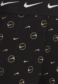 Nike Sportswear - PRINT PACK - Leggings - Trousers - black/metallic gold - 5