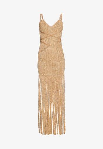 FRINGE GOWN - Vestido de fiesta - gold/combo