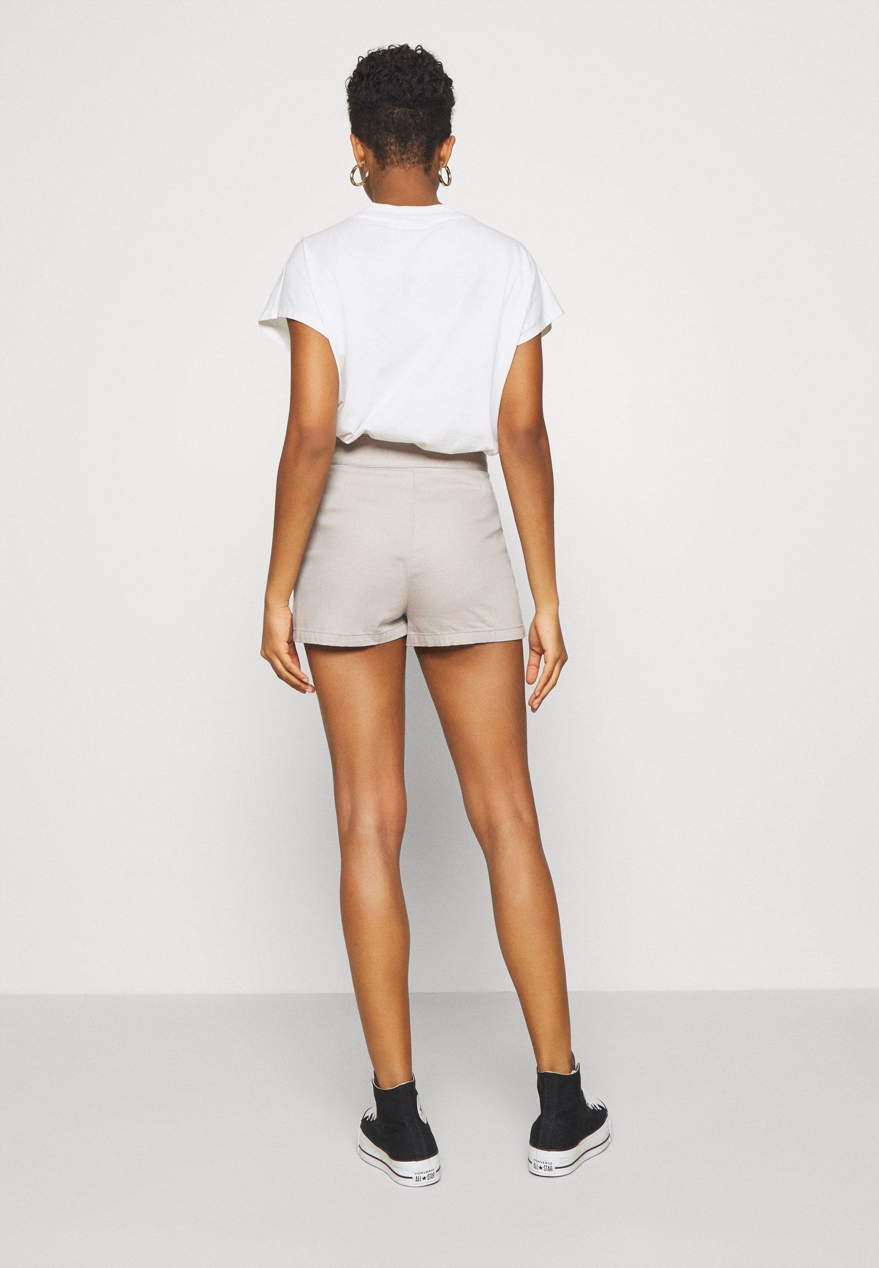 NU-IN WRAP OVER SKIRT - Denim shorts - grey - Women's Clothing MlMZa