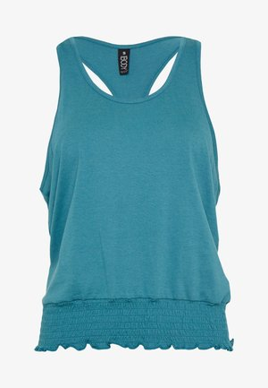 RUCHED HEM TANK - Top - mineral teal