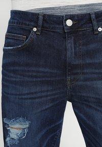 YOURTURN - Denim shorts - dark-blue denim - 3