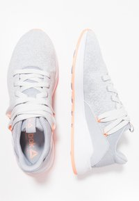 Reebok - EVER ROAD DMX 2.0 - Walking trainers - grey/white/sun glow - 1