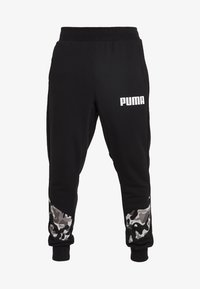 Puma - REBEL CAMO PANTS - Pantalon de survêtement - black