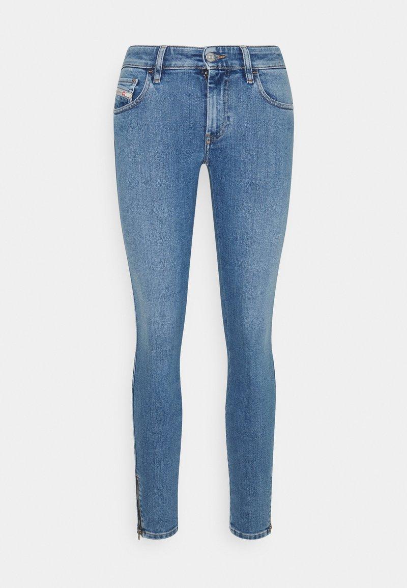 Diesel - SLANDY-LOW-ZIP - Jeans Skinny Fit - light blue