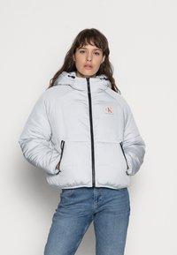 Calvin Klein Jeans - BIG LOGO PUFFER - Winter jacket - stone grey - 0