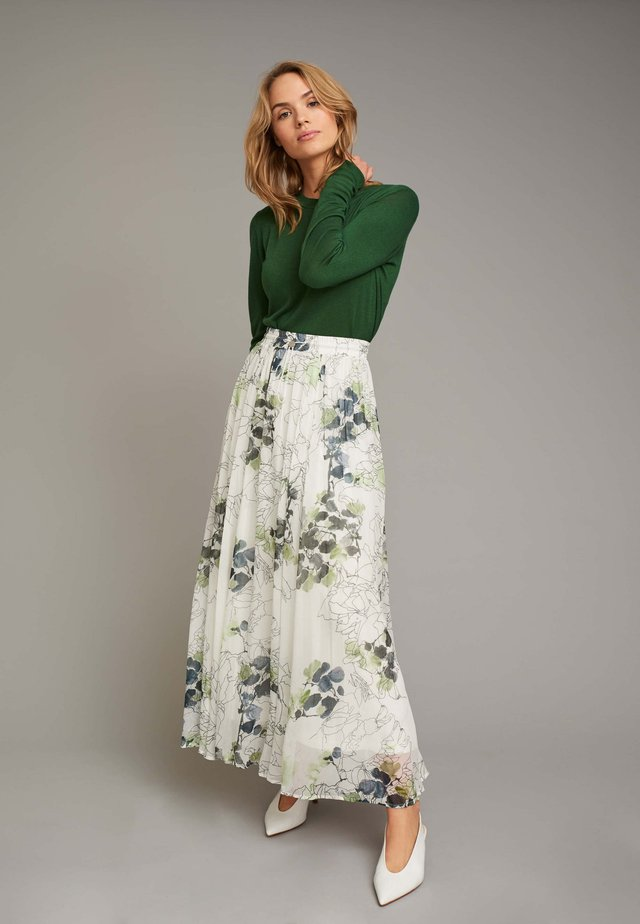 RUFFLED SKIRT - Jupe plissée - green